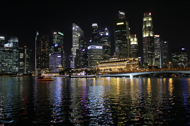 Night train to singapore shanghai sojourns singapore skyline from marina bay altavistaventures Image collections