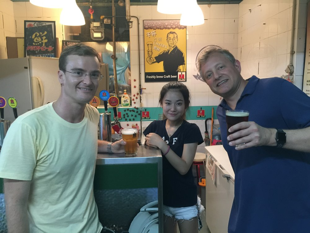 Good friends and good beer always go together: with Rob Kos and the proprietress of On Tap