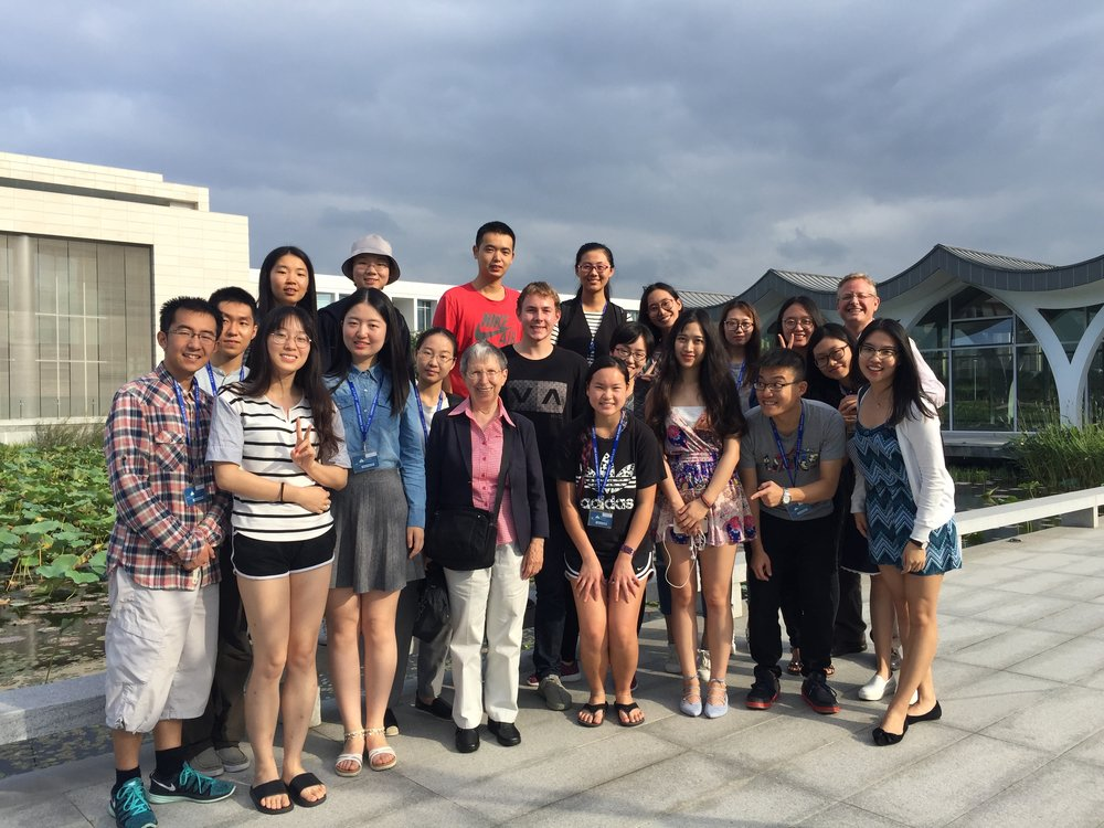 Students in my Shanghai History class at Duke Kunshan University posing with guest speaker Betty Barr Wang, who told them about her experiences in a Japanese internment camp in Shanghai in the 1940s.