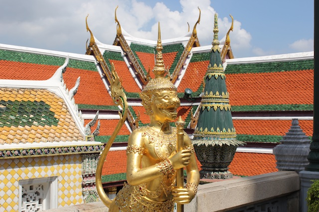 Golden guardian at Wat Phrat Kaew