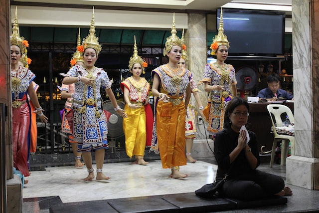 Dance and prayer at the Erawan Shrine