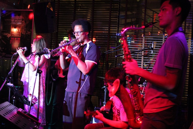 The jazz band at Brown Sugar
