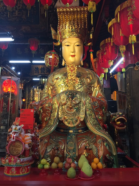 Mazu temple in Shi Lin Night Market, honoring the goddess of the seas