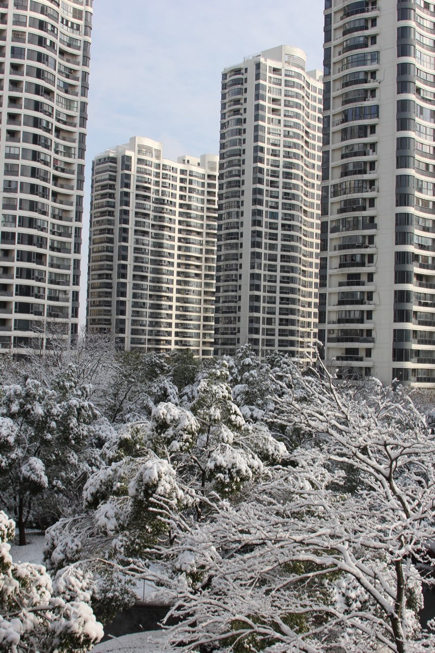 The view from my apartment window in Kunshan on Friday Jan 26