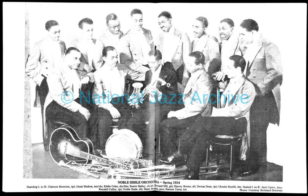 Noble Sissle Orchestra with Jack Carter 1934.jpg
