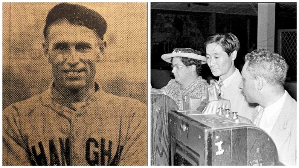 "Left Image:""Lucky""Jack Riley (photo by North-China Daily News). Right Image: Slot machines in the nightspot Arcadia, circa. 1940. Photo courtesy Katya Knyazeva) Source:  Vice"