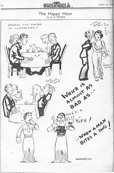 A cartoon published in Walla Walla, the magazine of the 4th Marines in Shanghai
