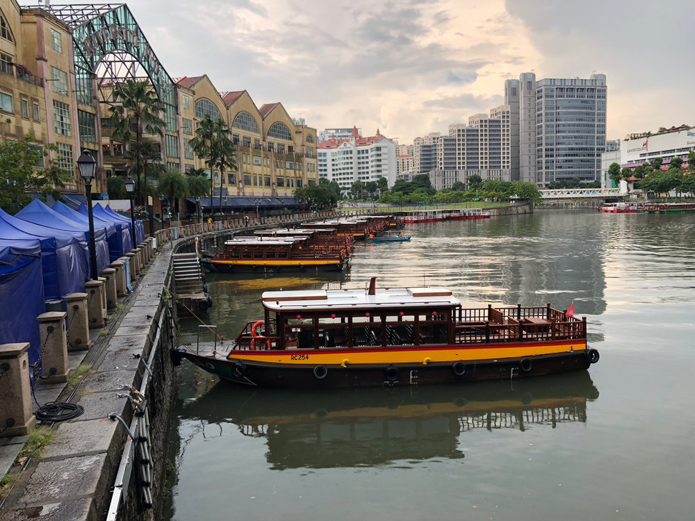 Clark Quay and Riverside Point in Singapore