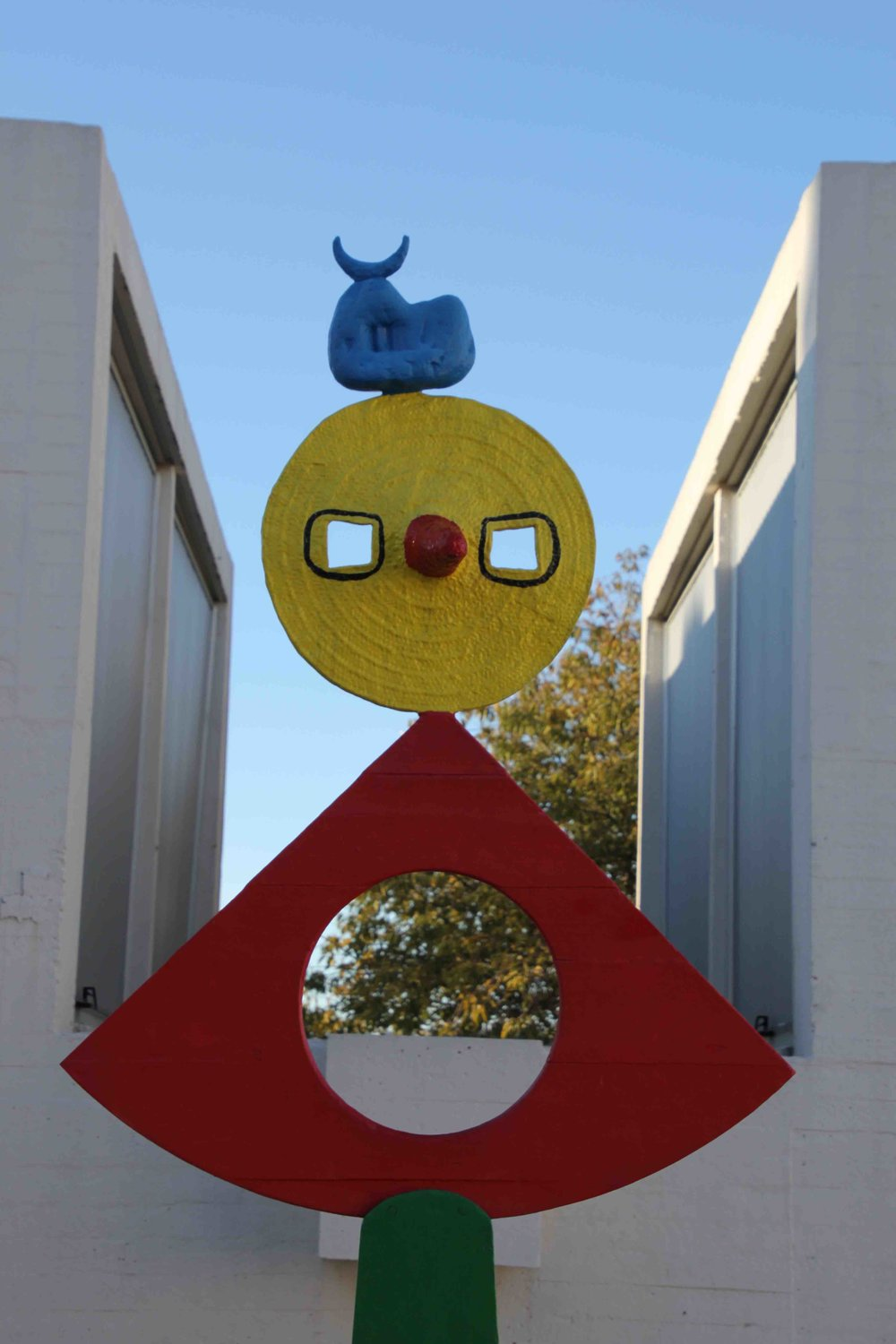 A sculpture on the rooftop the Joan Miro museum on Montjuic