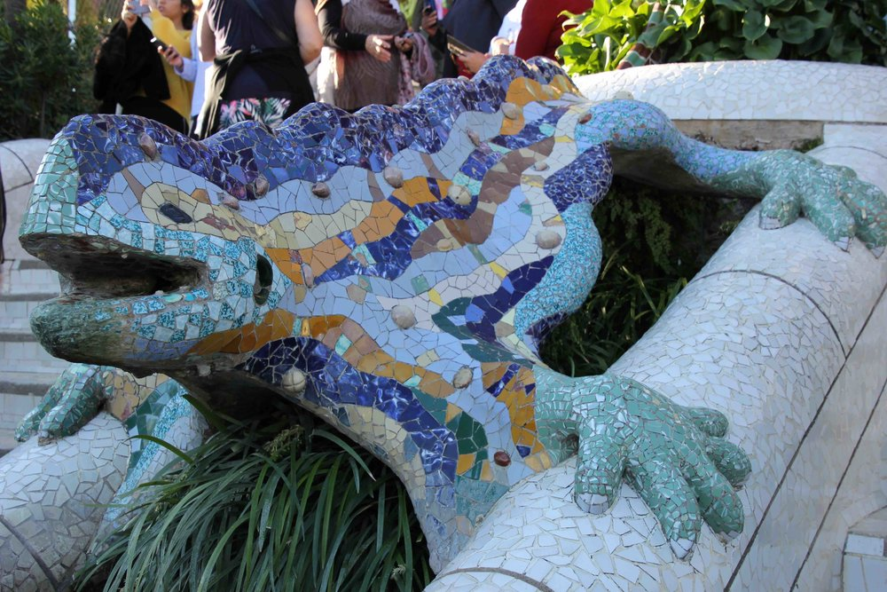 The lizard of Park Guell. Replicas of this fella are to be found in shops all over the city—there must be millions of them