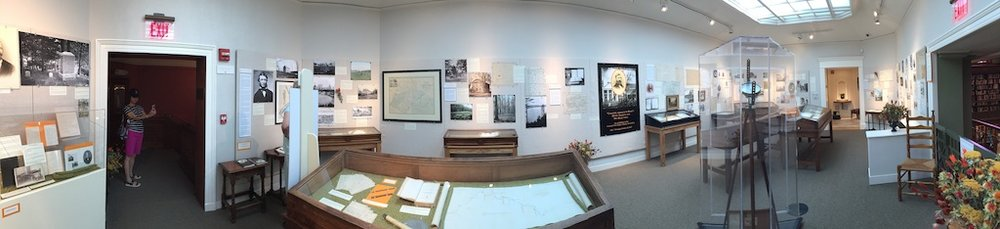 A panorama of the Thoreau exhibition in 2017