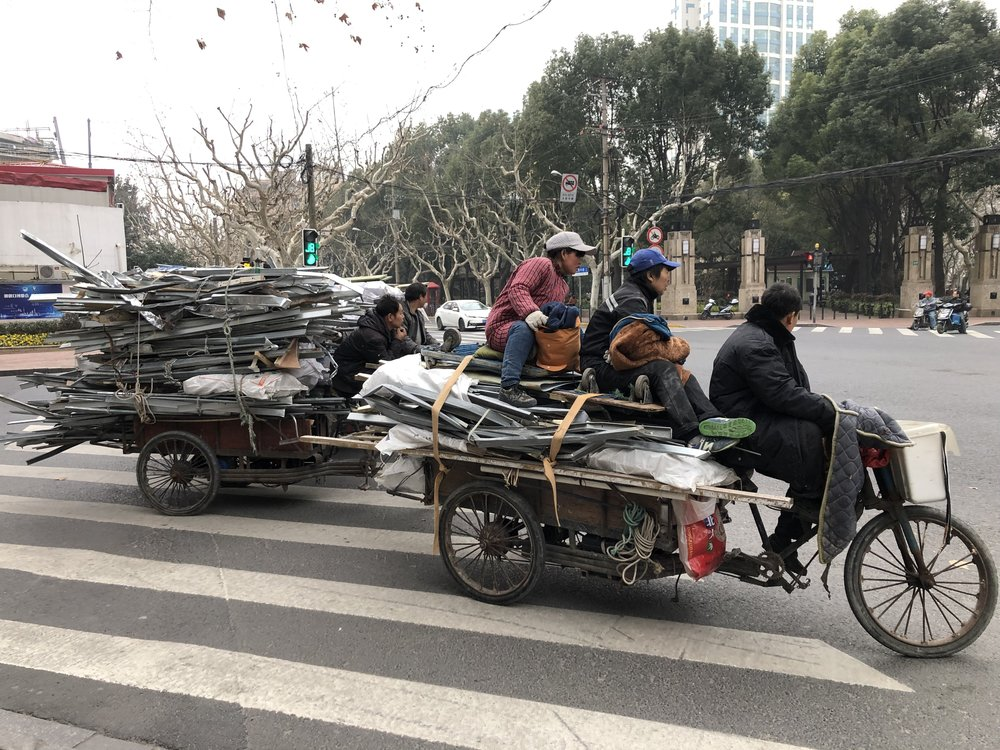 Corner of Fenyang Road and Huaihai Road in Shanghai, taken on Jan 19 2019