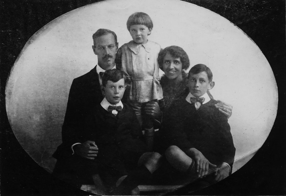 S. C. Young and family in the 1920s