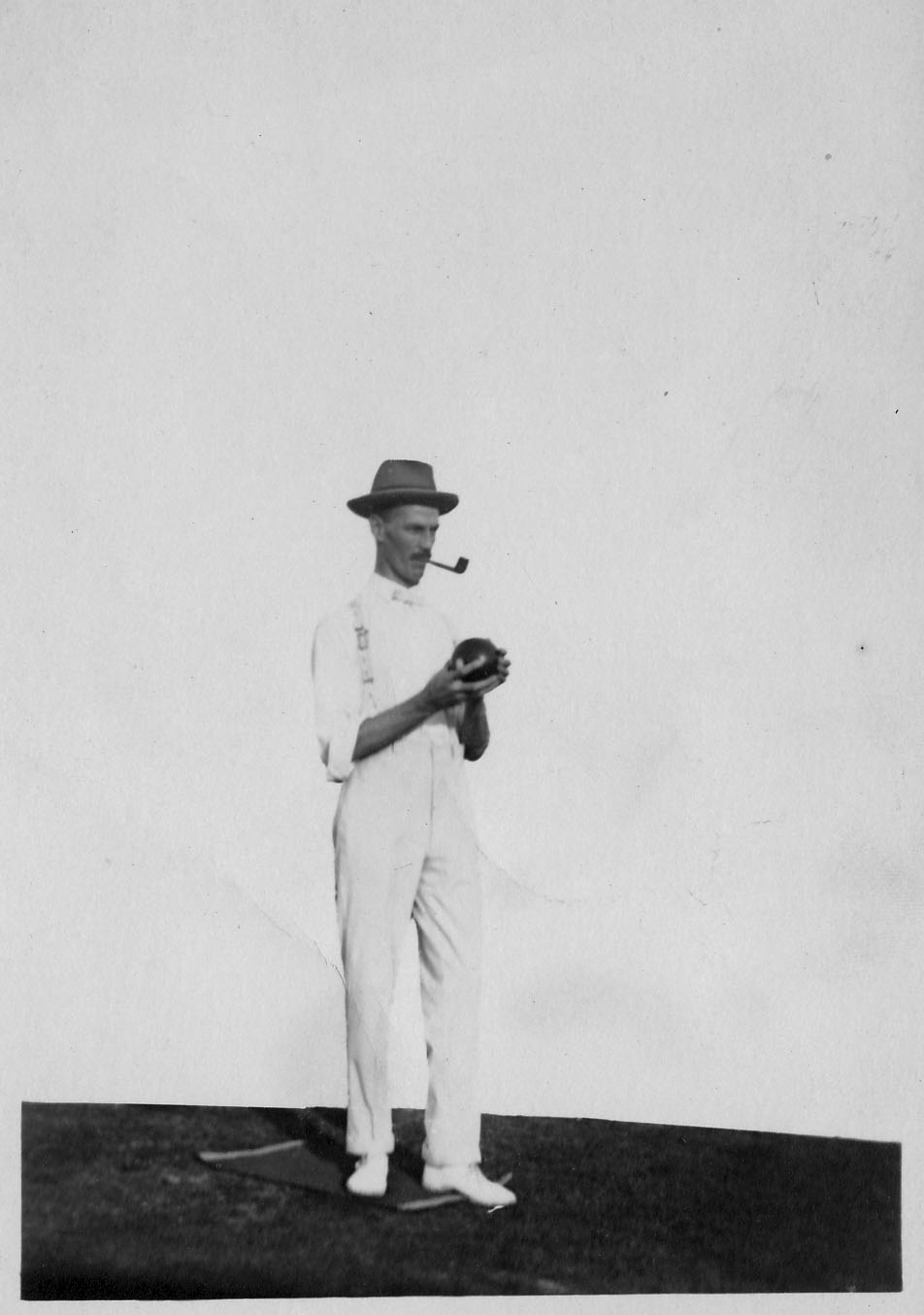 One of many sports that S. C. Young enjoyed was lawn bowls. Courtesy of Peta Catto/Young collection