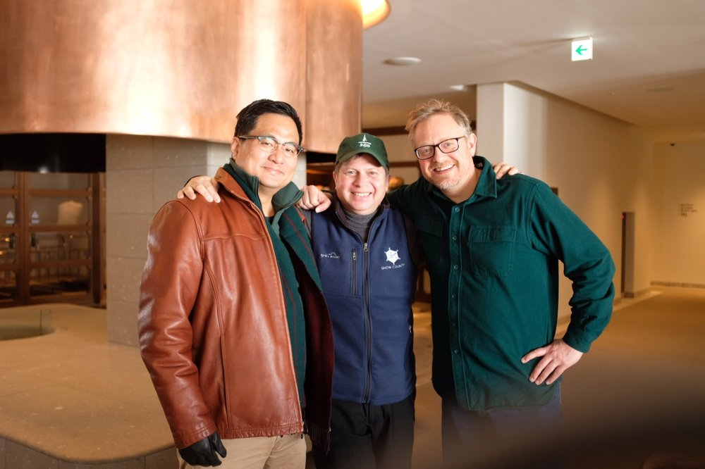 Still crazy after all these years: Cliff, Euysung and I getting together at Niseko. The last time the three of us were in one place was over 30 years ago.