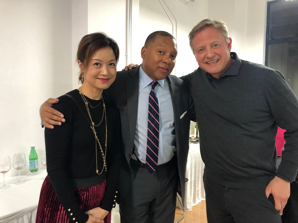 Mengxi and I with Wynton Marsalis