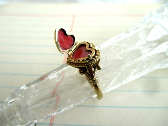 14k Heart Ring by TrunkGypsies