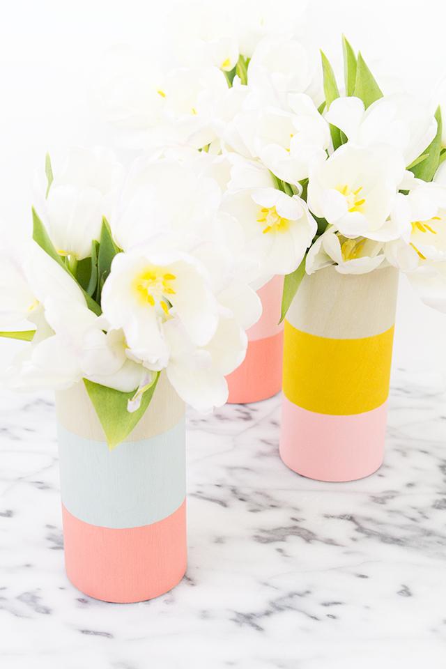 Color Block Vases