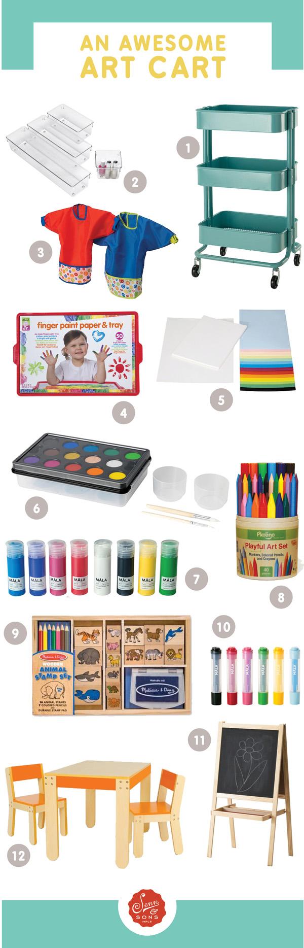 Senn & Sons // Art Cart for Kids