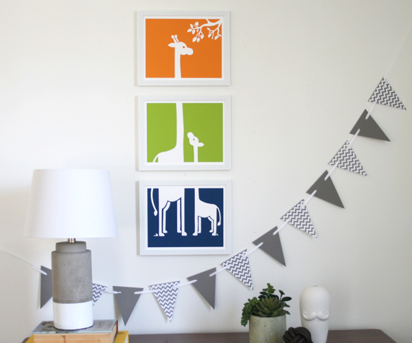 Senn & Sons Nursery Art // Giraffe Prints