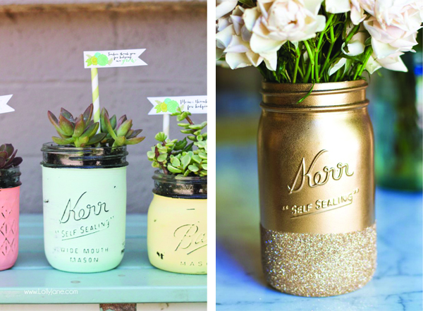 Mason Jar Mother's Day // via Senn & Sons