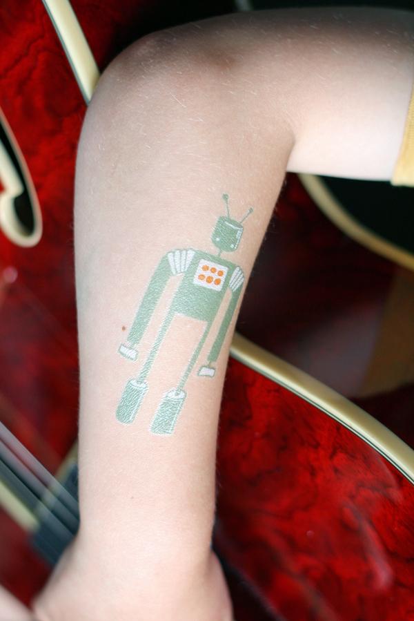 Senn & Sons // Robot Temporary Tattoo