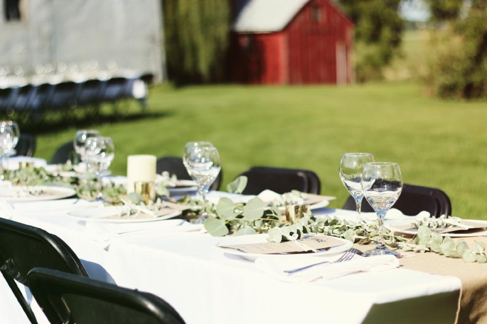 Farm Dinner Tablescape
