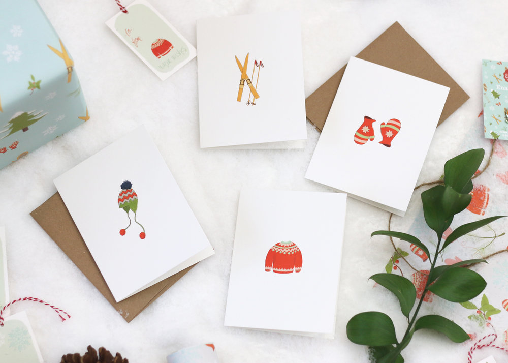 Illustrated Greeting Cards by Senn & Sons