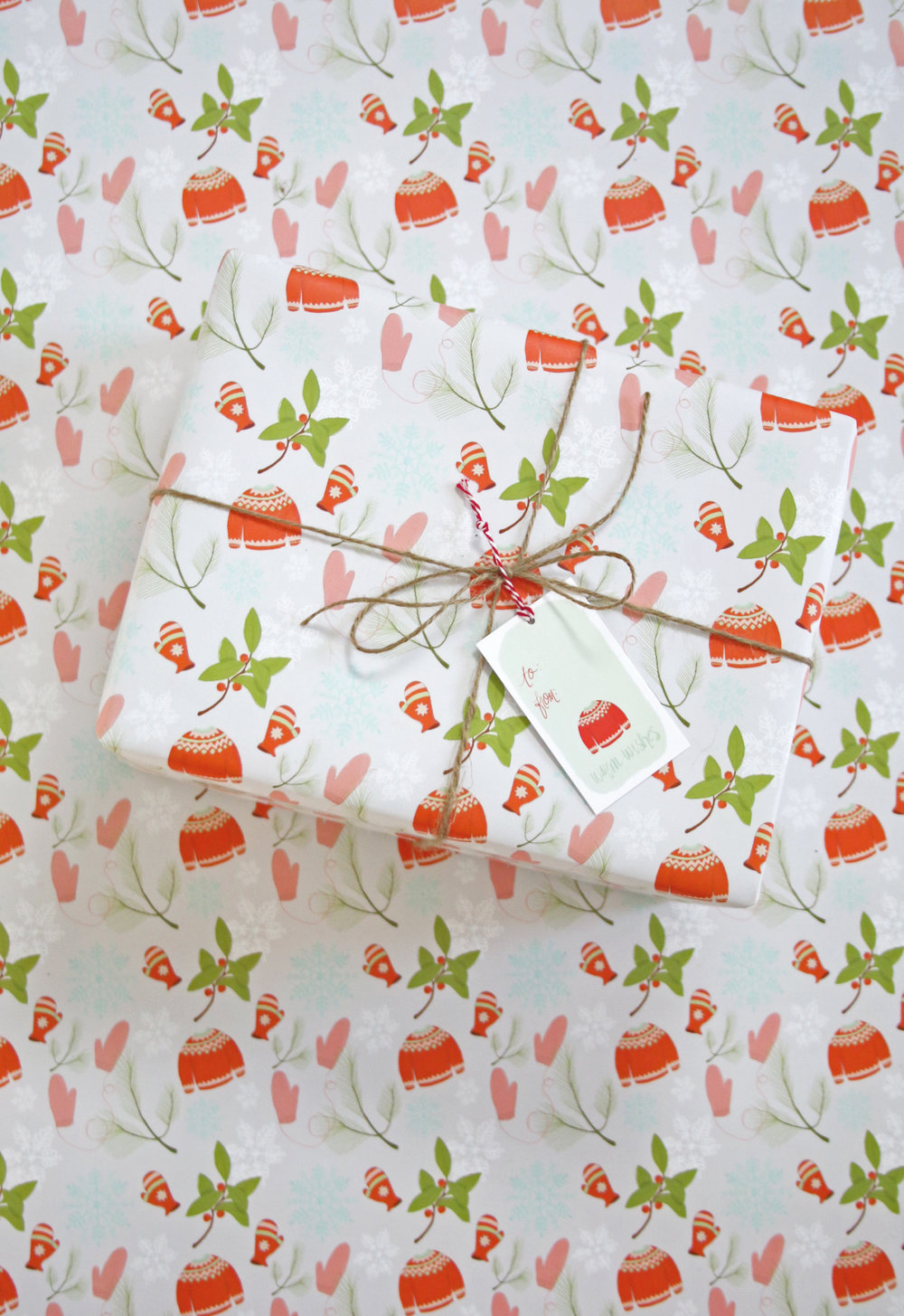 Winter Holiday Gift Wrap