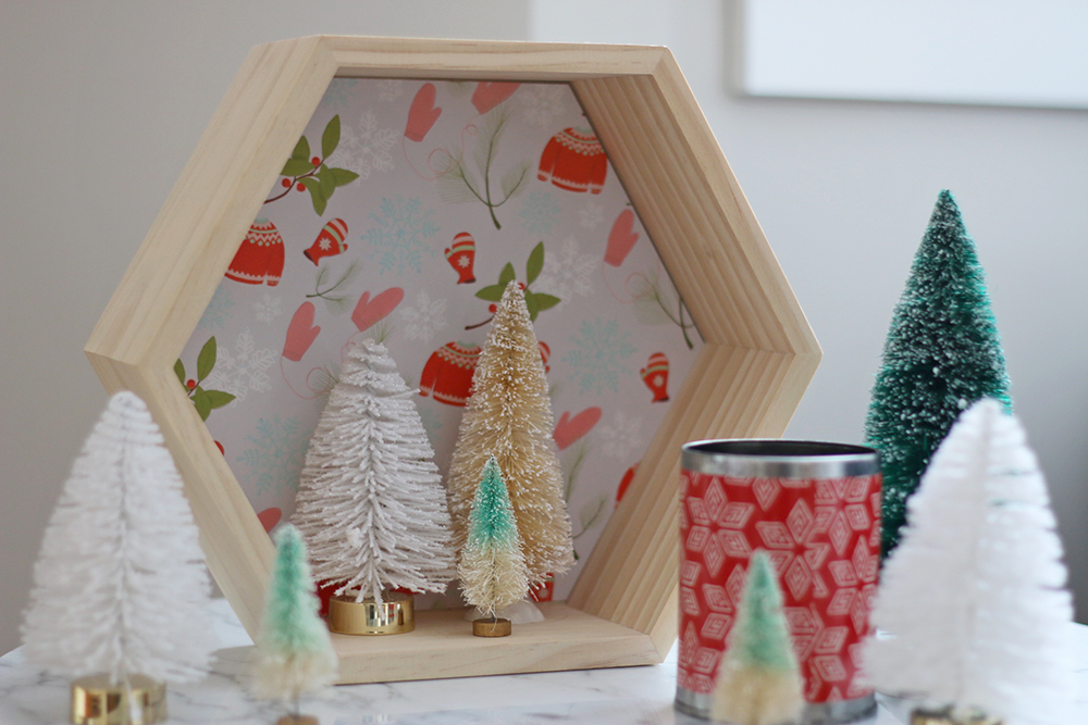 DIY Display using leftover gift wrap // Senn & Sons