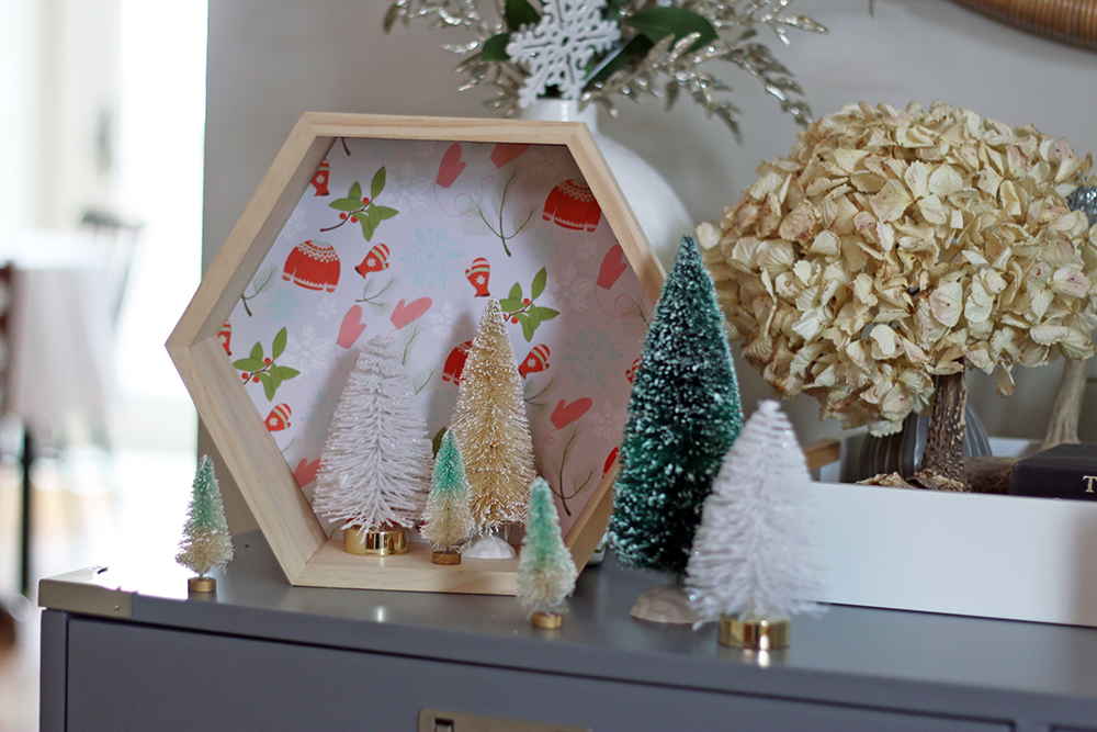 DIY Holiday Decor using leftover gift wrap // Senn & Sons