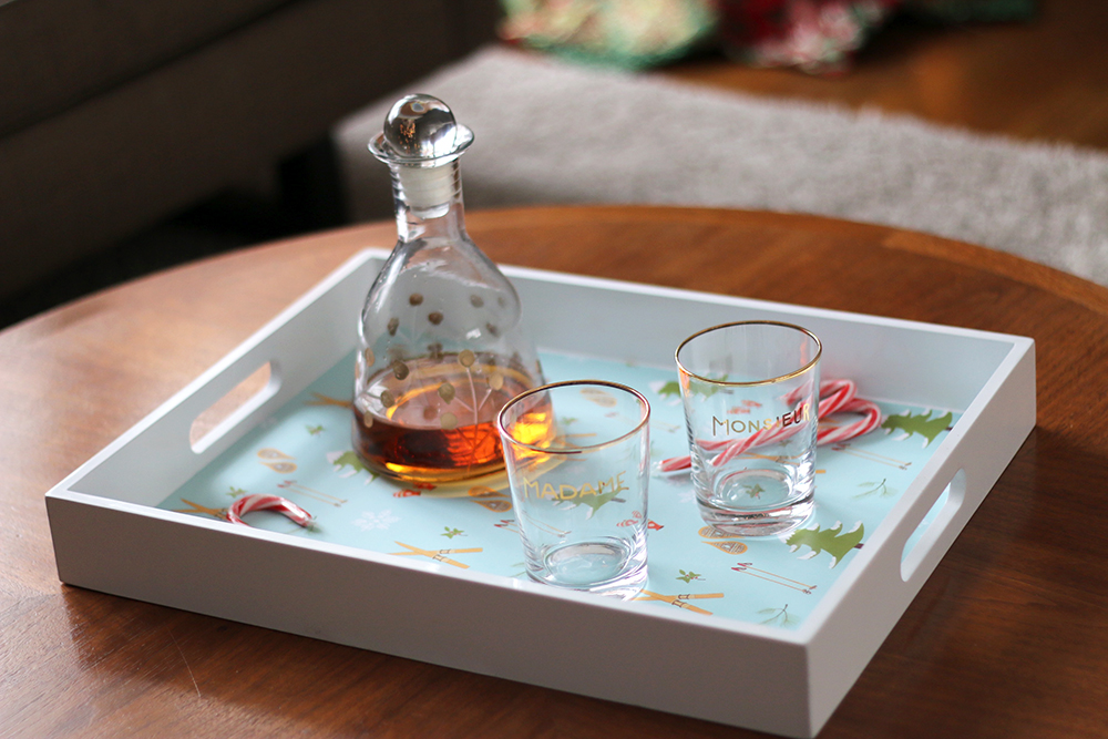 Decorative Holiday Tray DIY // Senn & Sons
