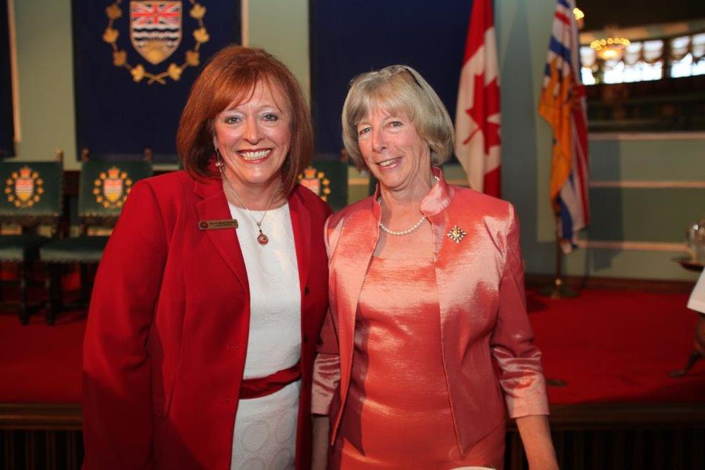 With the former Honorable Judith Guichon, Lt. Governor, of BC
