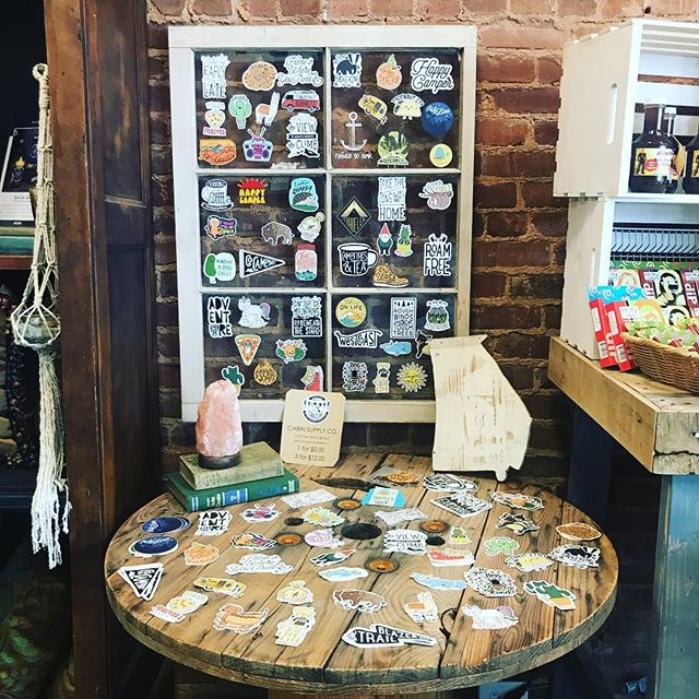 Sticker restock y'all! Come shop with us tonight for Alive after 5! Open until 8pm 😍🙌#shopsailors #stickerpower #indieshop #downtownmonroe