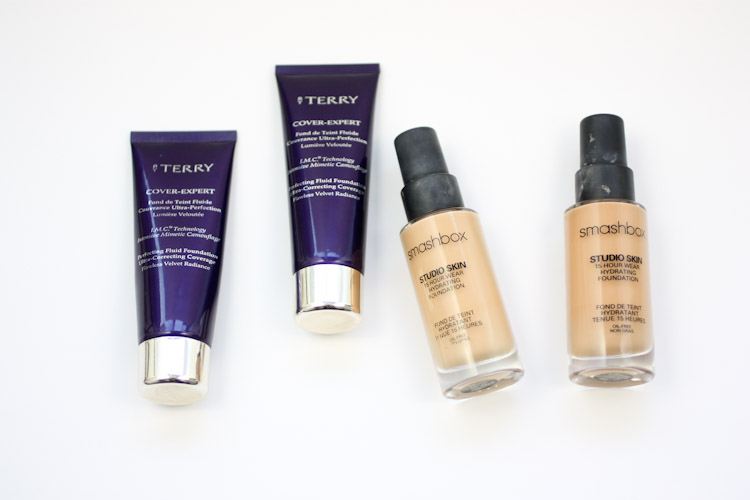 By Terry Cover Expert (#7 and #9), Smashbox Studio Skin (2.1 and 2.3)