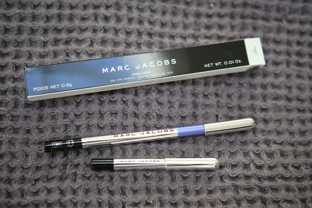 Marc Jacobs High(liner) gel eyeliner pencil in Th(hink) and Blacquer
