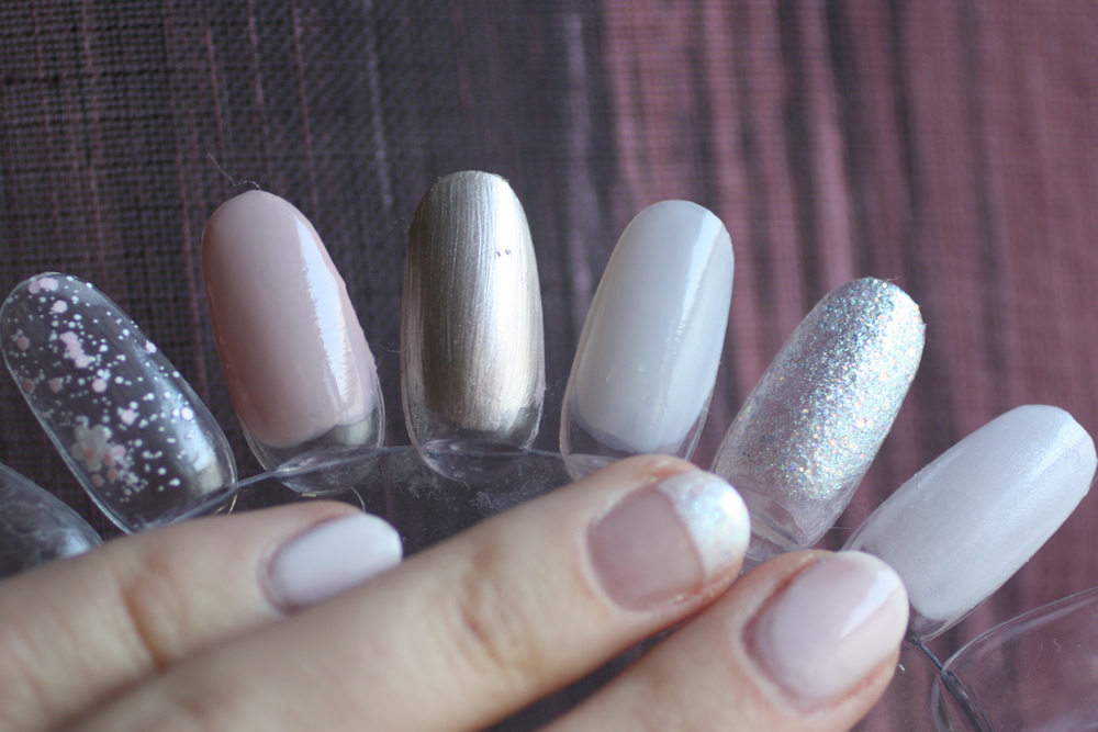 OPI Petal Soft, Put It In Neutral!, This Silver's Mine!, Act Your Beige!, Make Light of the Situation and Chiffon My Mind
