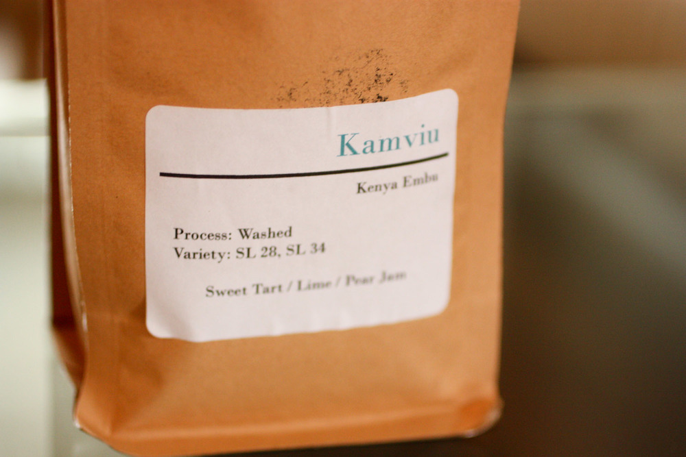 June's Coffee was Kamviu, from Kenya