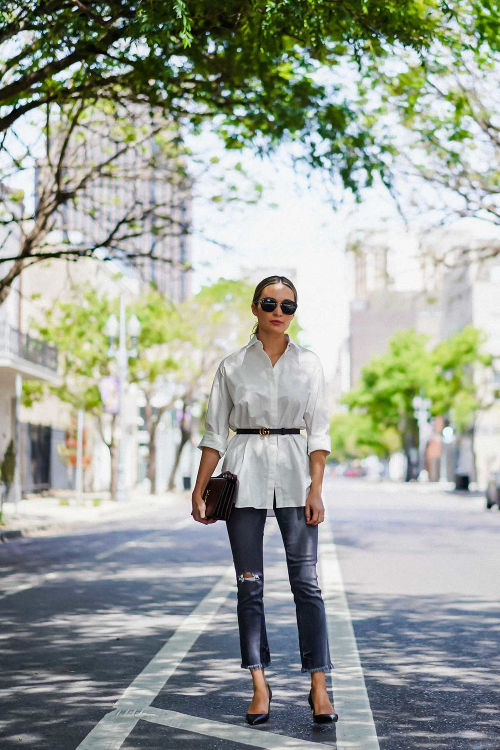 spring style the row white shirt