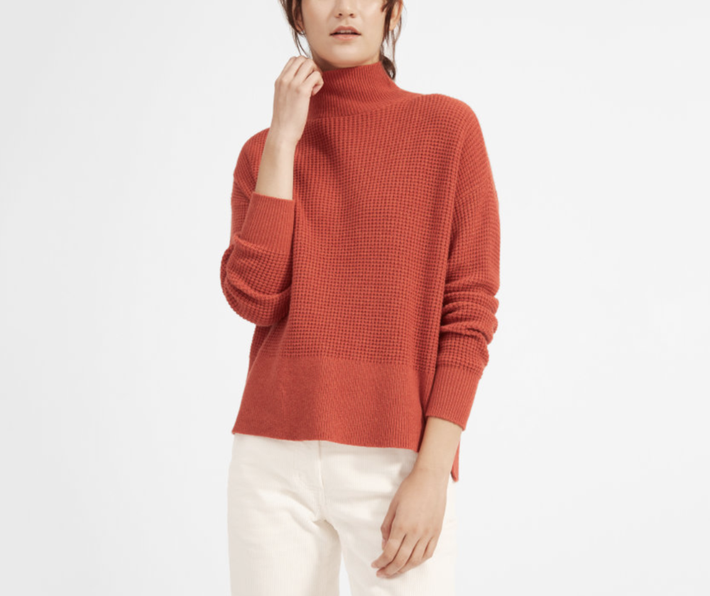 Waffle-Knit Cashmere In A Unique Seasonal Shade