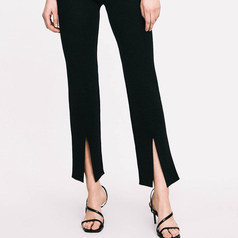 zara split trousers