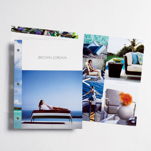 Sales brochures to support the European expansion of a leading U.S. brand of high-end outdoor furniture.