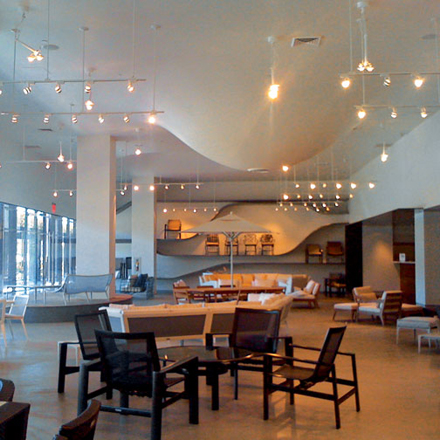 Showroom design and renovation at the Pacific Design Center.