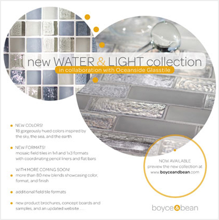 E-mail launch for a re-branded glass tile company from Southern California.