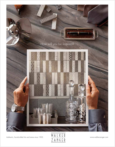 "Part of a series asking, ""What Will You Create?"" and ""How Will You be Inspired?"" for a national advertising campaign for a luxury stone and tile brand."