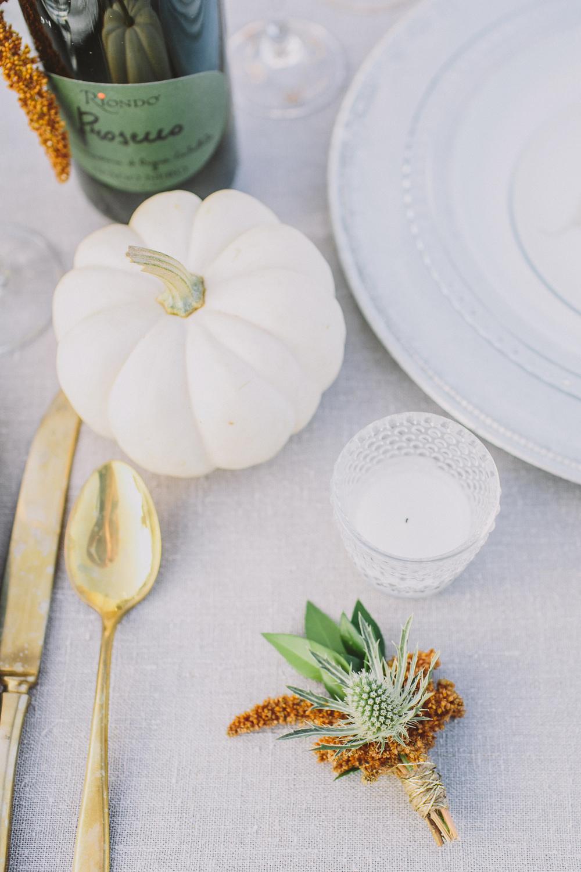 white pumpkin wedding ideas