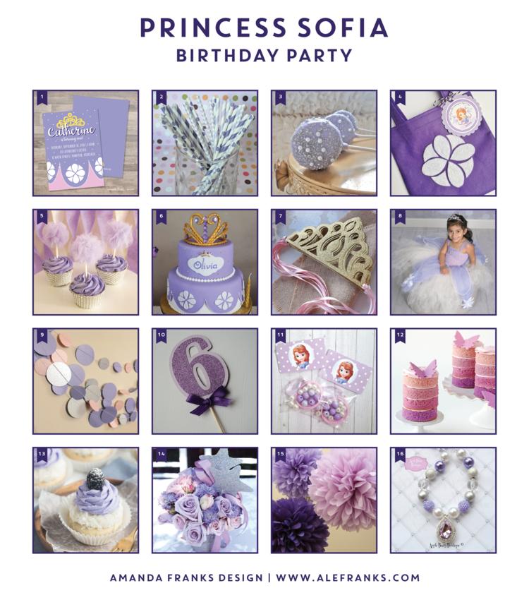 PRINCESS SOFIA BIRTHDAY PARTY — Amanda Franks Design
