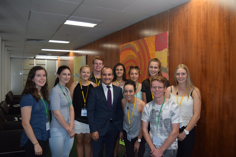 2015's Rural Youth Ambassadors with the Hon. James Merlino, Deputy Premier and Minister of Education for Victoria.