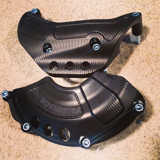 Billet case covers for #projectFZ07racer @yoshimura_rd  #trackdaz #yamaha