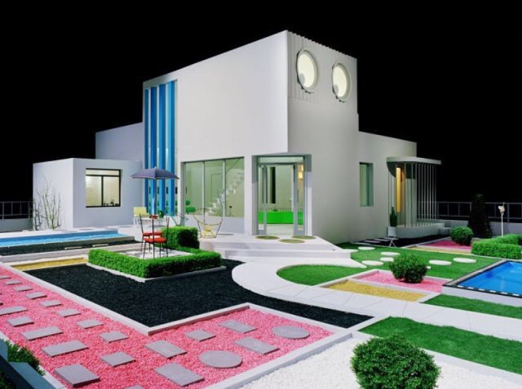Set from Jacques Tati's film Mon Oncle